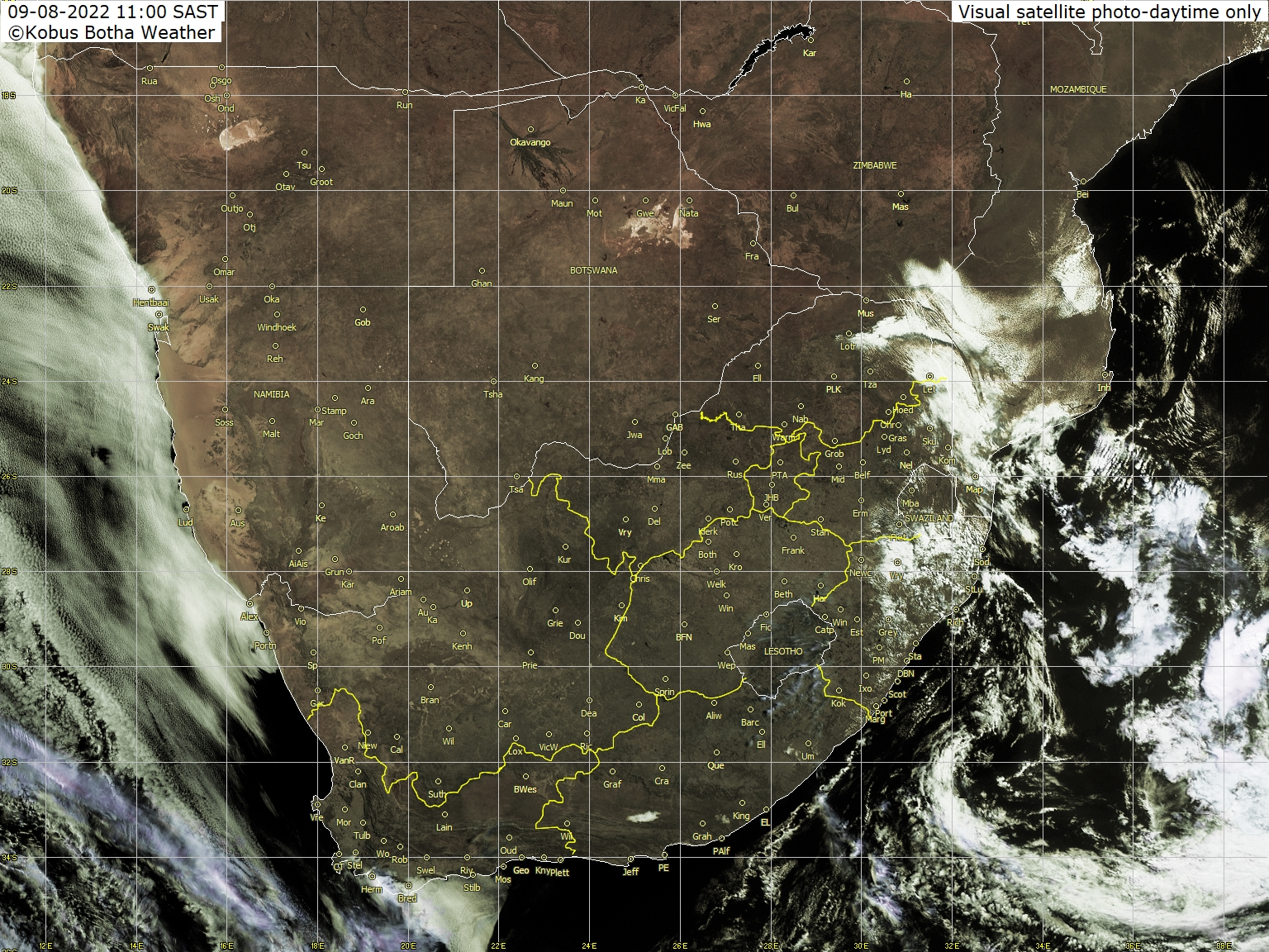 Meteosat - visible - South Africa, Namibia, Botswana