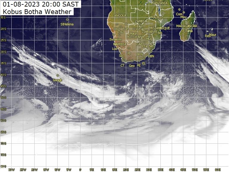 Meteosat - Infrarot - Antarktis, Afrika